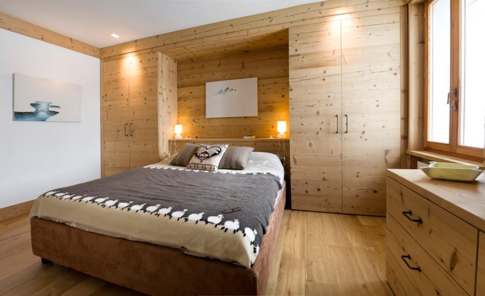 Ferr arredamenti appartamento in montagna - Camere da letto in legno rustico ...
